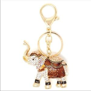 Crystal Elephant Key Chain/Purse Charm